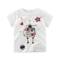 2017 Katefengwo Baby Boys Girls Cartoon Robot T Shirts Clothes Toddler Kids Children Printed Funny Cotton