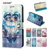 MILYSSI Leather Flip Case For Xiaomi Redmi 4X Case Redmi 4 X Cover 3D Vision Painted Flip Wallet Case For Xiaomi Redmi 4X Cover