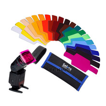 20 Colours Selens SE-CG20 Color Filter Gels Kit for Flashgun DSLR Camera Speedlight Accessories Studio Lighting Workshop Art(China (Mainland))