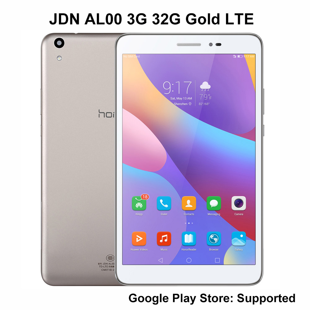 Huawei honor tablet 2 LTE 3g Ram 32G Rom 8 дюймов Qualcomm Snapdragon 616 Andriod 6 8.0MP 4800mah ips 1920*1200 планшетный ПК JDN AL00 - 3