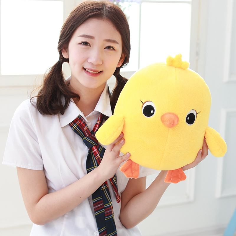 1pc 35/40/50cm Cute Yellow Chicken Plush Toys Staffed Sounding Chicken Plush Doll Kids Toy Childrens Gift Brinquedos