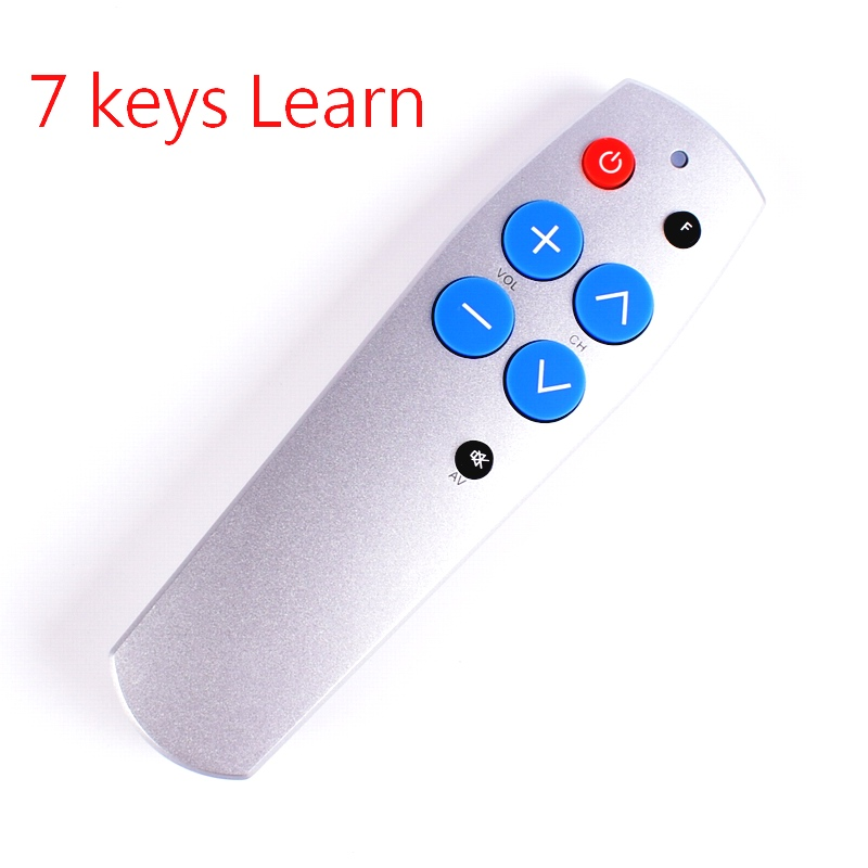 Remote control with Learn function for TV,STB,DVB,TV box, 7 big buttons copy IR code, simple and easy use