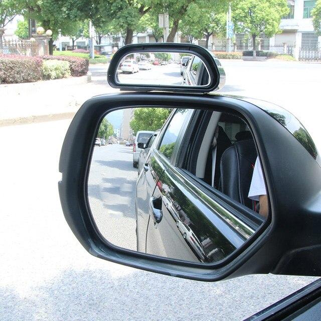 Retrovisor universal para ponto cego automotivo, espelho auxiliar ajustável para automóveis