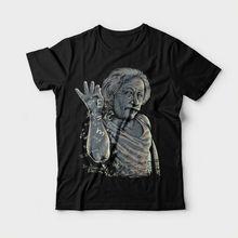 2017 New Fas hions Designer T Shirts Broadcloth Albert Einstein Salt Bae Men Short O-Neck Shirt