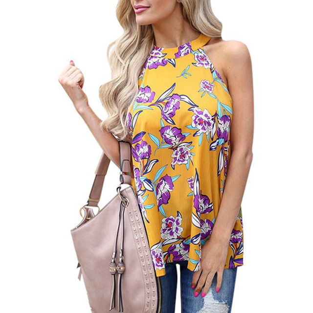Elegant Sleeveless Boho Shirt