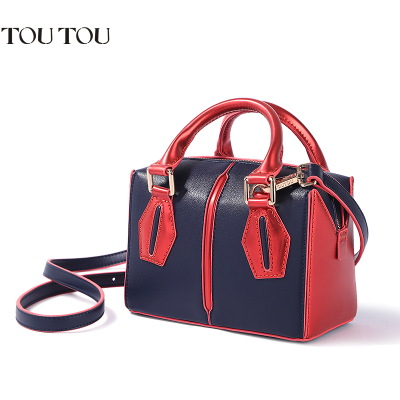 A1665 TOUTOU 2018 New Women Boston Bag Europe Style Simple Handbag Fashion Trend Shoulder Messenger Bag office lady Tote handbag техно сб 1665 тумба