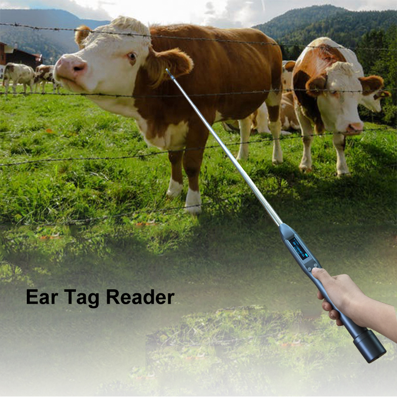 IOS Android Adjustable Antenna Bluetooth RFID Animal Ear Tag Reader ISO FDX-B And HDX Chip Scanner For Cattle,horse,cow