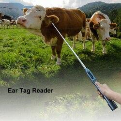 IOS Android Verstelbare antenne Bluetooth RFID animal oormerk reader ISO FDX-B en HDX chip scanner voor vee, paard, koe