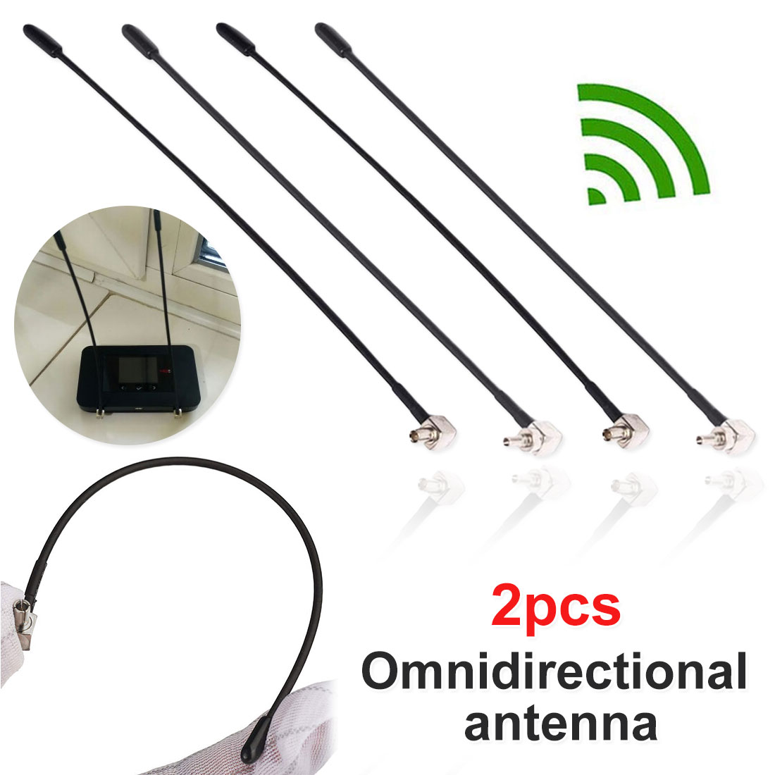 2pcs 4G LTE Antenna With TS9 Or CRC9 Connector For Huawei E398 E5372 E589 E392 Zte MF61 MF62 Aircard 753s 5dbi Gain Wifi Router