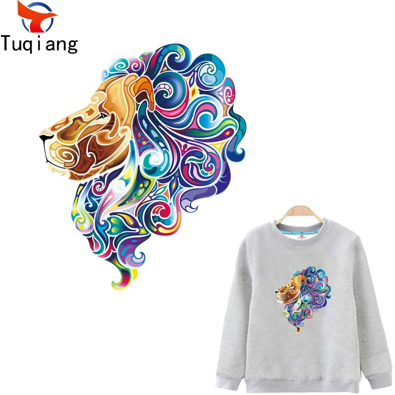 10pcs fahsion Personality Colorful Lions Patches Iron On Patches For Clothing Washable Stickers Christmas Gift For Girls Boys