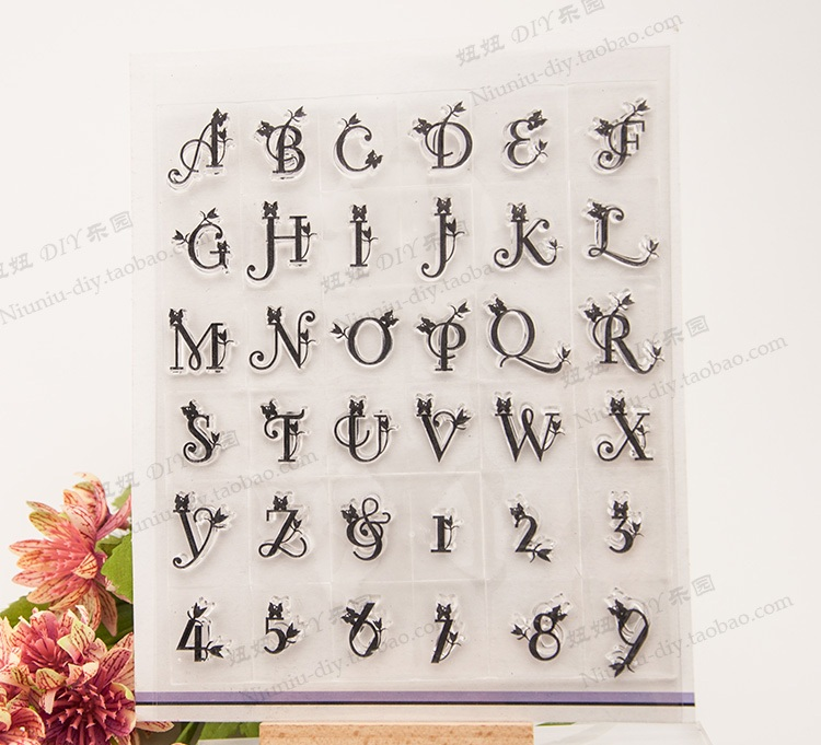 Clear stamp letter stamp Scrapbook albums DIY manual material card Transparent seal The transparent stamp free shipping