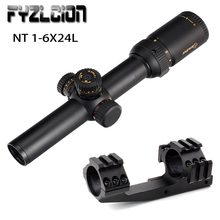 Hunting 1-6X24 L Riflescope First Focal Plane Glass Mil Dot Reticle Tactical Optics Sight Side Parallax Rifle Scope