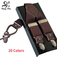 High Quality Classic Uspenders Braces With Y Back 4 Alloy Stainless Clips For Male And Female