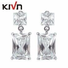 KIVN Fashion Jewelry Luxury Cubic Zirconia Womens Girls Bridal Wedding Earrings Promotion Christmas Mothers Day Birthday Gifts