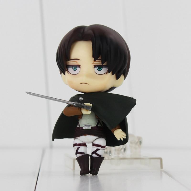 10cm Nendoroid Anime Attack on Titan Shingeki no Kyojin Scouting Legion Levi Rivaille PVC Action Figure Collectible Model Toy