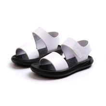 COZULMA Boys Classic Beach Sandals Summer Toddler Kids Hook & Loop Shoes Flat Little Girls Gladiator Size 21-30