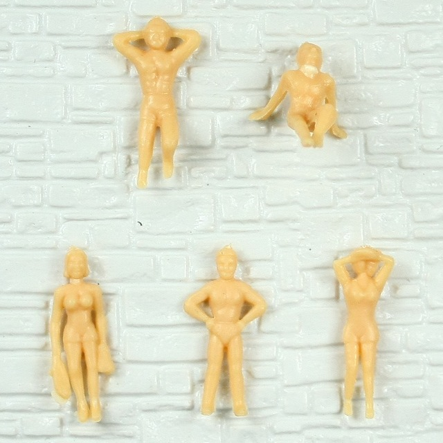 US $9 68 |50pcs Painted Model Train People model unpainted swimming Figures  S/HO Scale 1:100 for landscape 2 8cm on Aliexpress com | Alibaba Group