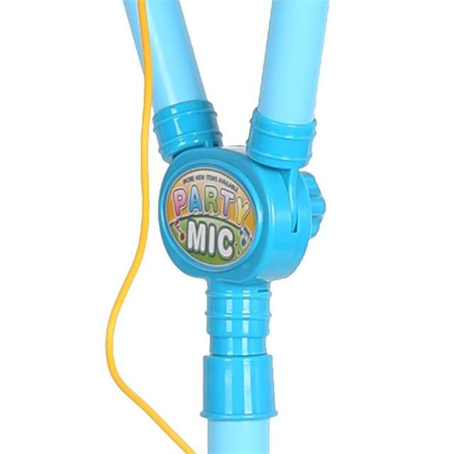 Children Musical Toy Karaoke Machine Kids Sing Toy Playset with MP3 2  Microphones + Disco Flashing Lights-in Toy Musical Instrument from Toys &