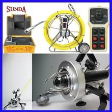 Робот трубы 360 градусов Поворот сантехника Камера с 7 дюймовым монитором вращающийся барабан толкателя для внутритрубный инспекционный прибор Камера