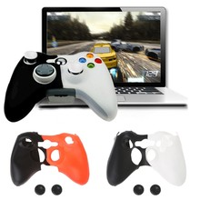Double-Color Silicone Gamepad Cover Case 2 Joystick Cap For XBOX 360 Controller(China)