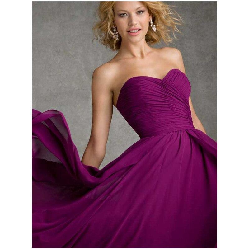 Atractivo Vestidos Largos De Dama De Honor Púrpura Ideas - Ideas de ...
