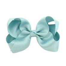 10 pcs 4 Inch Grosgrain Ribbon hair Bows Accessories With Clip Boutique Bow Hairpins Hair Ornaments цена 2017