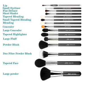 Image 5 - ג סאפ איפור מברשות סט 15pcs סינטטי שיער pincel maquiagem קרן אבקת צלליות אייליינר מיזוג קוסמטי כלי T092