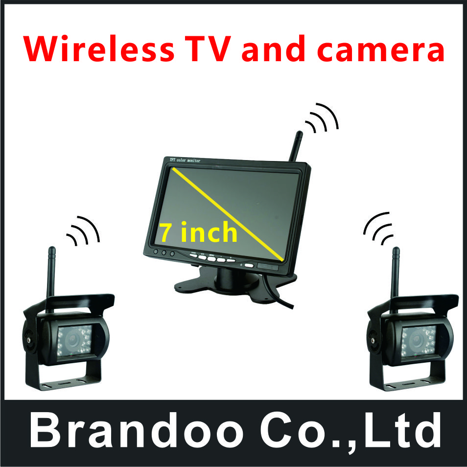 Free shipping 2 cameras version 7 inch wireless car monitor, used for truck, long vehicle monitor, train,from Brandoo buy monitor used
