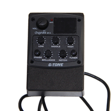 Cherub GT-3 4-Band EQ with Tuner and Notch Acoustic Guitar Preamp Pickup guitar pick holder
