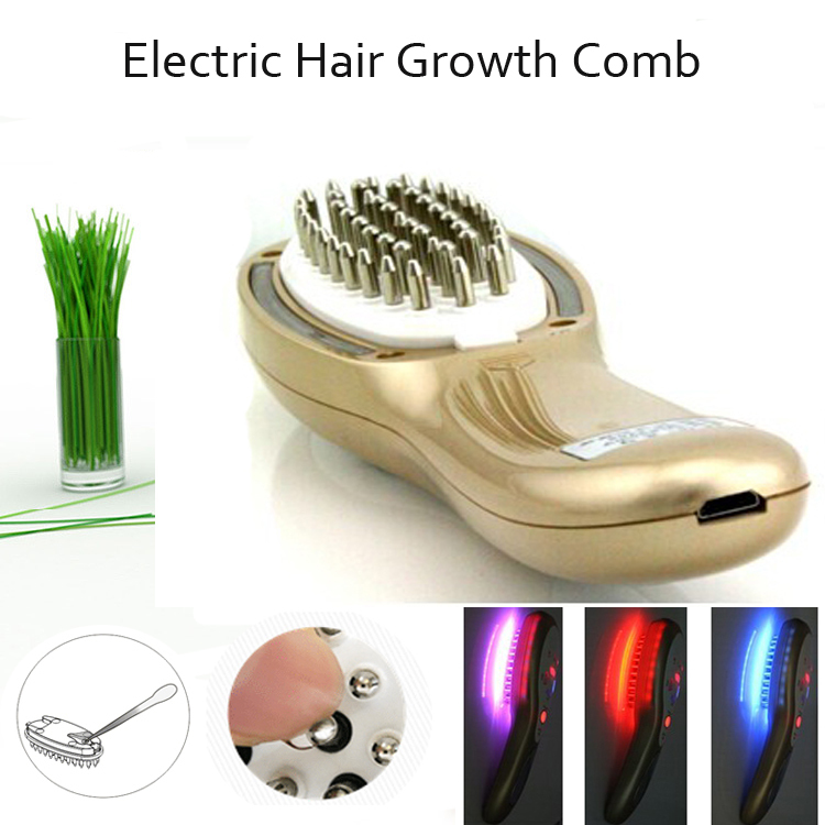 Electric Laser Hair Growth Massager Comb LED Light Photon Therapy Hair Loss Treatment