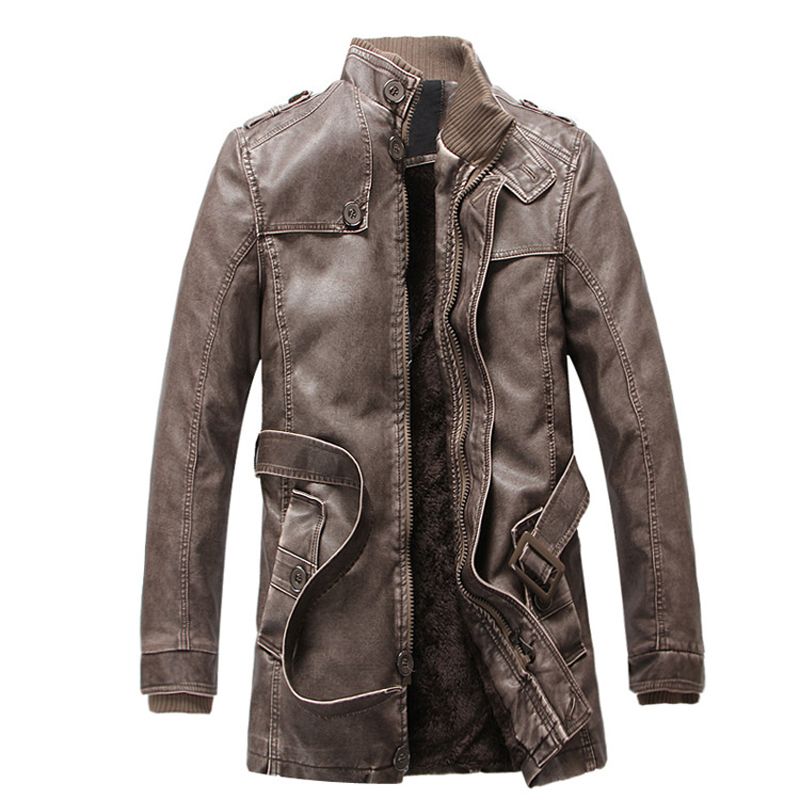 Кожаная куртка мужская тонкая теплая Мужская s стираемая Кожаная Мотоциклетная байкерская куртка