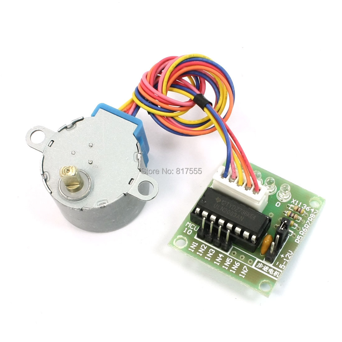 mcu diy 4 phase 5 wires stepper motor 5v with ul2003 driver board stepper motor wiring 4 stepper motor wiring 5 wire [ 1100 x 1100 Pixel ]