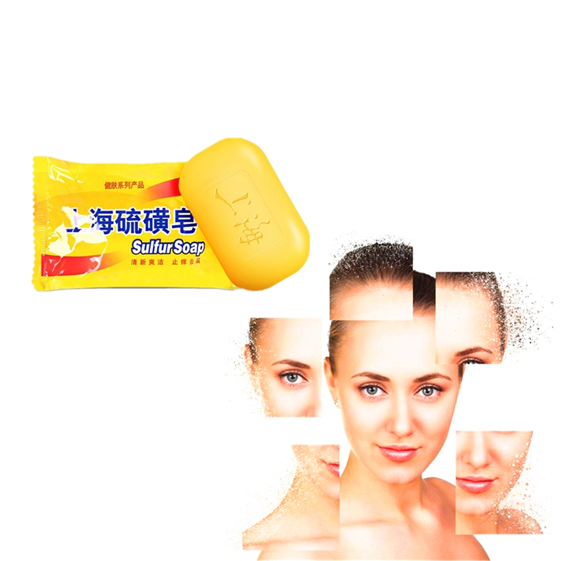 2019 Hot selling 85g Shanghai Sulfur Soap Treat Itching Acne Psoriasis Mite Dermatitis antibiotic