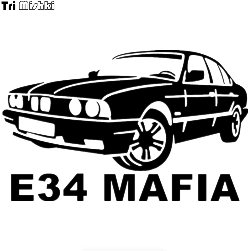 Tri Mishki HZX240 12.3*20cm Funny Car Stickers E34 Mafia For Bmw Auto Car Sticker