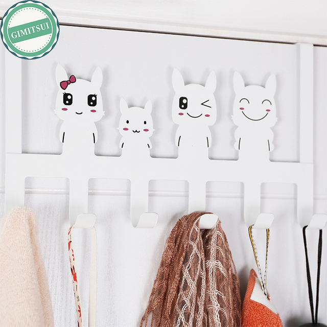 Cartoon Back Over Door Hanging Clothes Rack Hanger Coat Rack