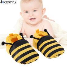 Spring 1 Pair Fashion Cotton Cloth First Walker Cartoon Yellow Bee Baby Boy Girl