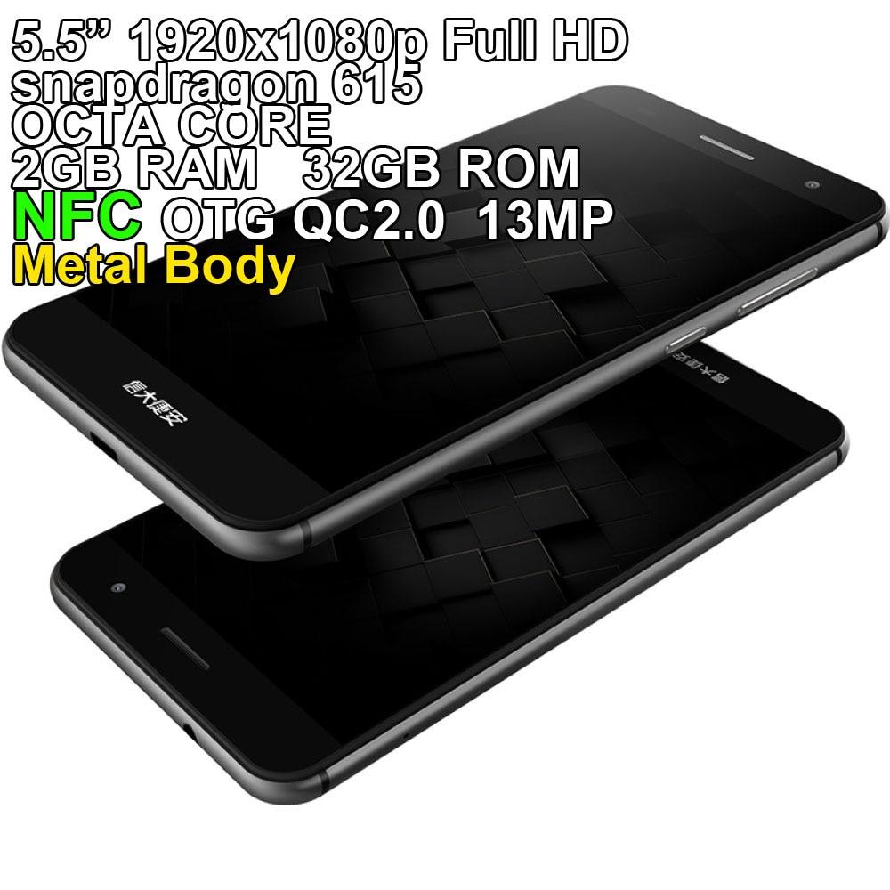 SANTIN ACTOMA ACE Snapdragon 615 NFC OTG 5 5 Full HD Corning Glass Metal 32GB ROM