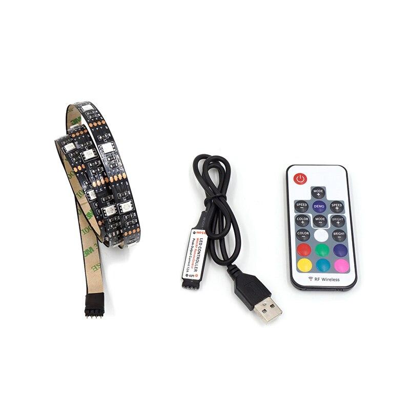 LED רצועת טלוויזיה RGB מחשב רקע תאורה DC5V - תאורת לד