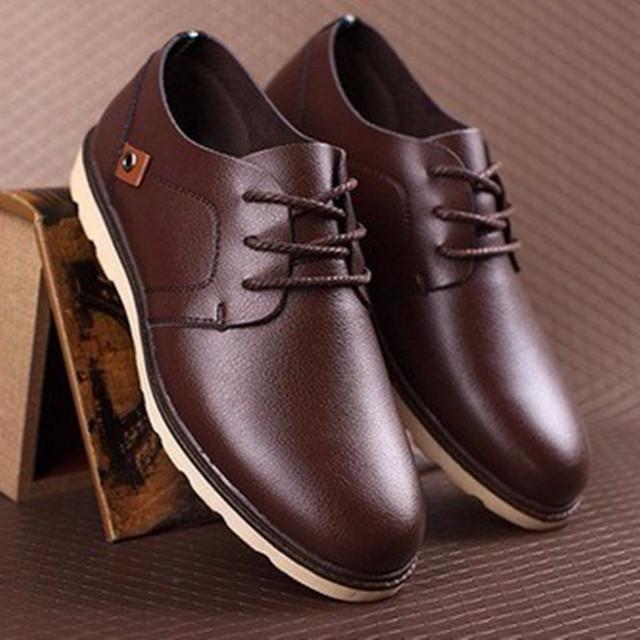 Homens Lace-up Rebites de Veludo Barato Inverno dedo do pé Redondo de couro Genuíno homem de Negócios de Trabalho Único sapatos estilo verão Mais tamanho (7-16)