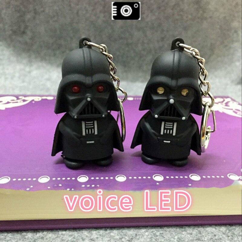 Star Wars Led Keychain With Sound,Darth Vader The Soldier Keyring Force Awakens White Pawns Flashlight Figure Keychains Boy Girl