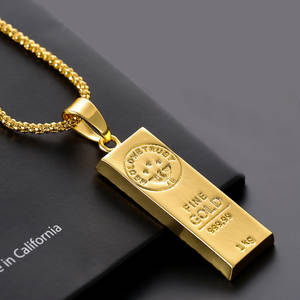 New MGOLD WE TRUST gold hip hop pendant men's charm ice out necklace jewelry