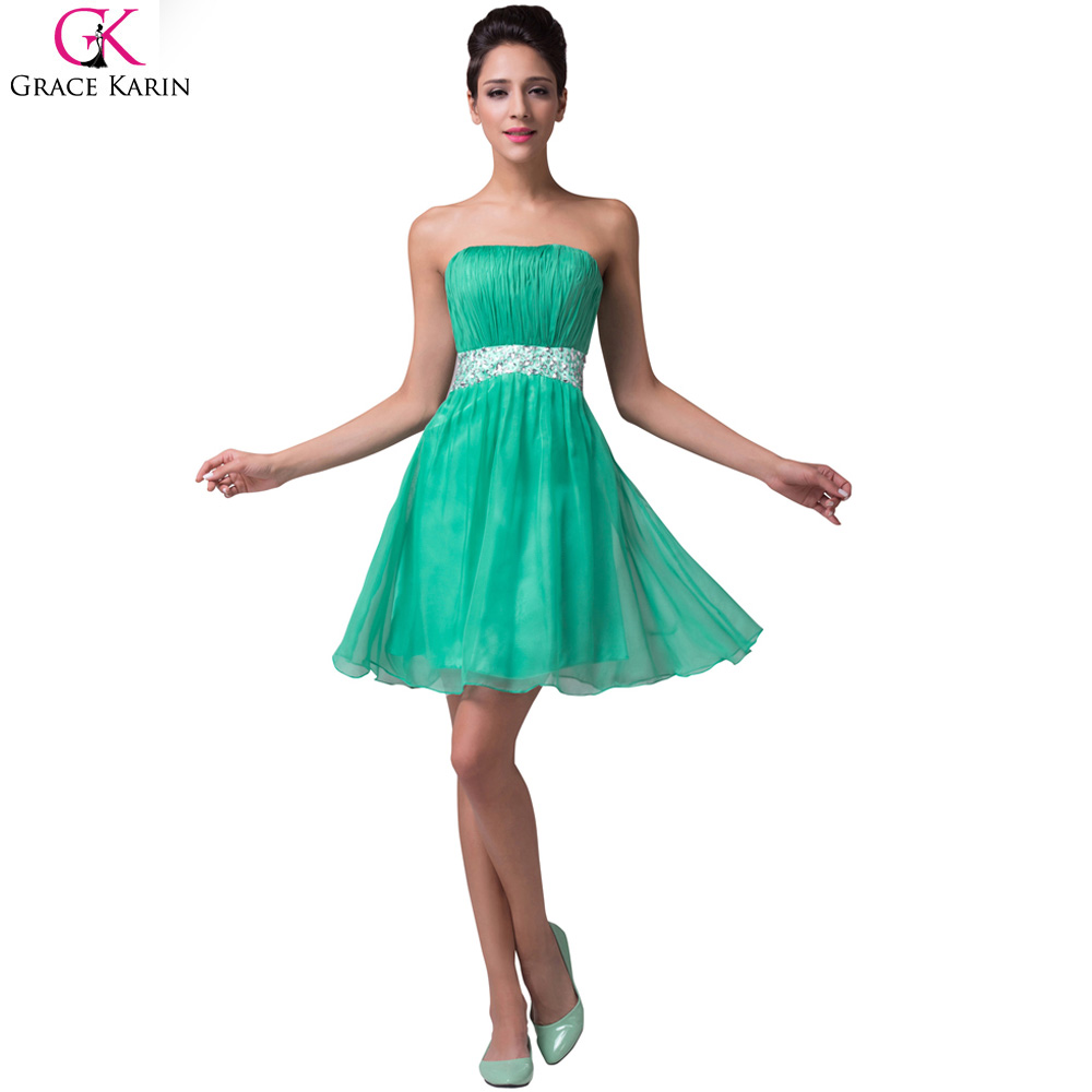 Grace Karin Luxury Cocktail Dresses 2017 Mint Green Short Party ...