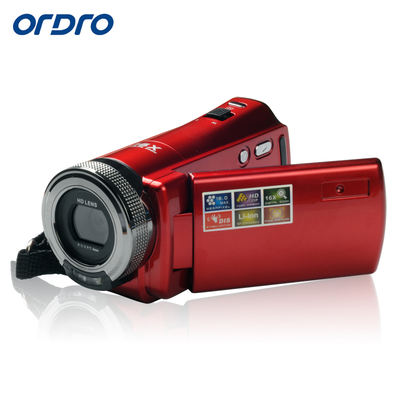 Ordro DV-108 720P HD DV Video Recording 16x Digital Zoom 16MP 2.7 Screen Camcorder CMOS Sensor Support SDHC/SD Card Max 32GB hot sale easy use hd 720p 12m 8x digital zoom video camcorder camera gift for family happy recording 1pc