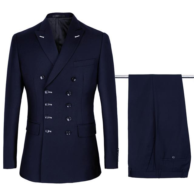 De Sur Pantalon Pièces Noir Breasted Tuxedo 2 Luxe Slim Mens Mariage As Photo Double Fait Same D'affaires Costumes Costume Hommes Fit Mesure Veste 8ntHwHAq