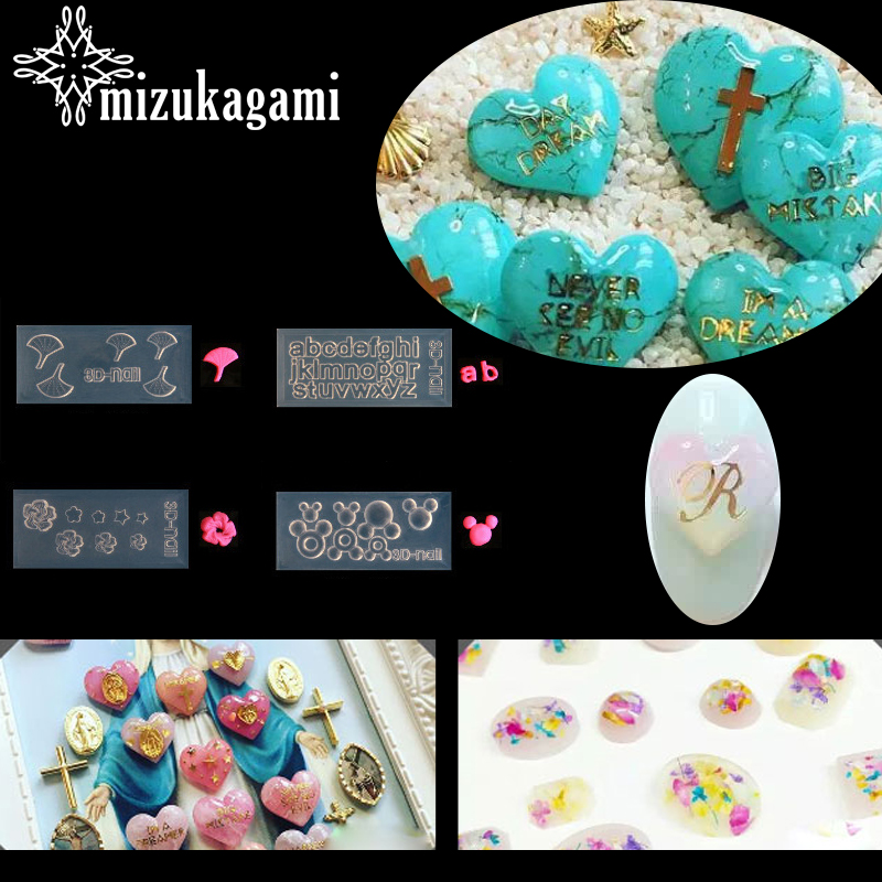 1pcs UV Resin Jewelry Liquid Silicone Mold Leaves Letter Flowers Resin Charms Pendant Molds For DIY Intersperse Nail Art Mold