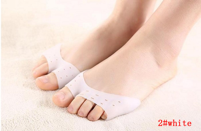 Socks Silicone Foot Fingers Toe Separator Stretchers Straighteners Protector Bunion Adjuster Guard Feet Care Gel Pedicure wh ...