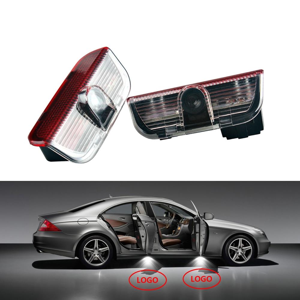 2pcs Car-styling Ghost Shadow Light Projector Courtesy Light welcome light For Volkswagen VW Passat B6 B7 Golf 4 5 Tiguan Jetta