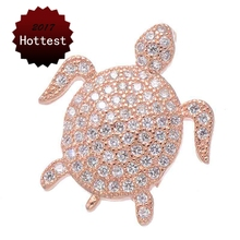 Buy gold turtle pendant and get free shipping on aliexpress high quality copper metal with zirconia rhinestone gold silver rose gold sea turtle design pendant men aloadofball Choice Image