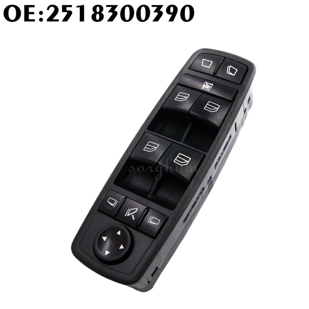 New Front left Drivers Window Mirror Master Switch For Benz GL R Class A2518300390 251 830 03 90 8K67 2518300390