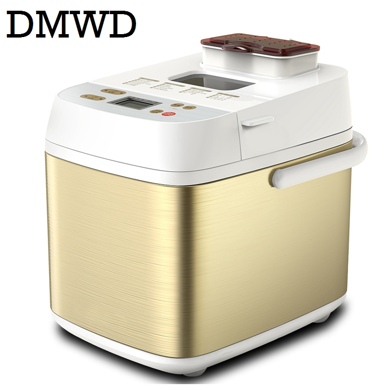DMWD Automatic Multifunction mini Bread Maker Intelligent User Friendly Bread baking Machine Breadmaker Cooking Tools 550w